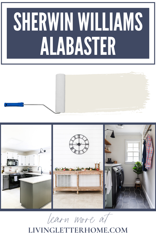 See Sherwin Williams Alabaster in a REAL house! The perfect neutral white paint that doesn't feel to sterile via Living Letter Home