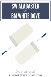 Sherwin Williams Alabaster vs. Benjamin Moore White Dove