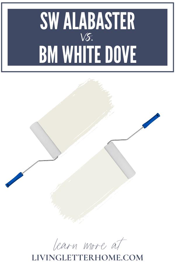 Sherwin Williams Alabaster vs. Benjamin Moore White Dove