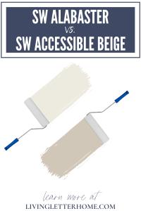 Sherwin Williams Alabaster vs. Sherwin Williams Accessible Beige