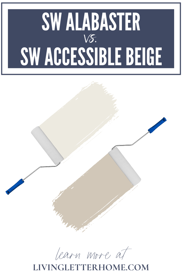 Sherwin Williams Alabaster vs. Sherwin Williams Accessible Beige