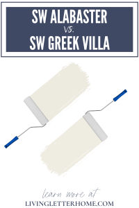 Sherwin Williams Alabaster vs. Sherwin Williams Greek Villa