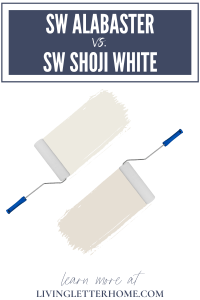 Sherwin Williams Alabaster vs. Sherwin Williams Shoji White