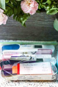positive pregnancy tests and hospital bracelets