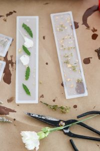 resin bookmarks with flowers