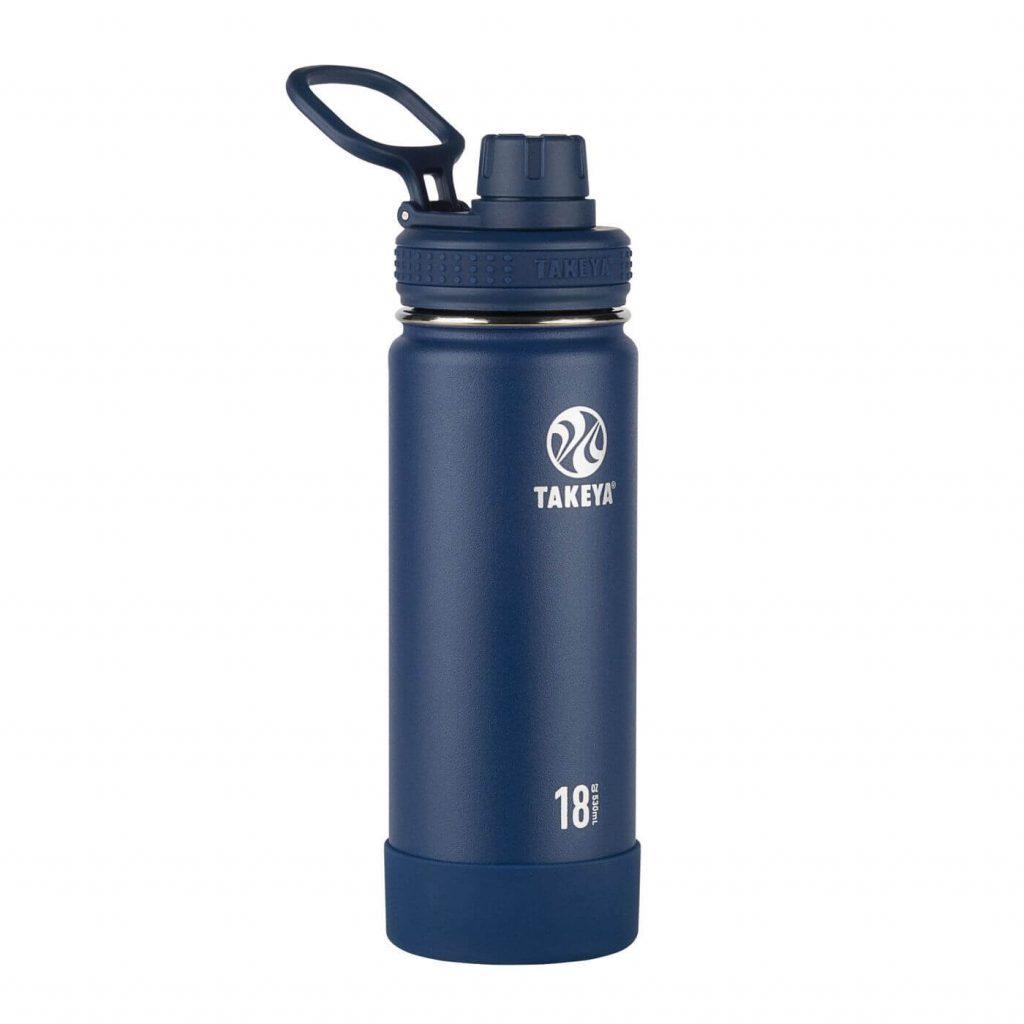navy takeya stainless steel water bottle