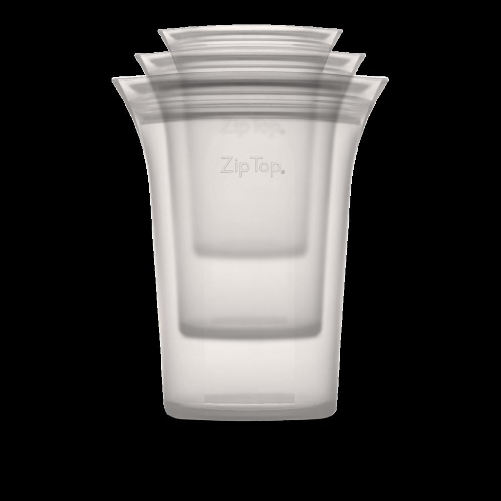 Ziptop gray cup set