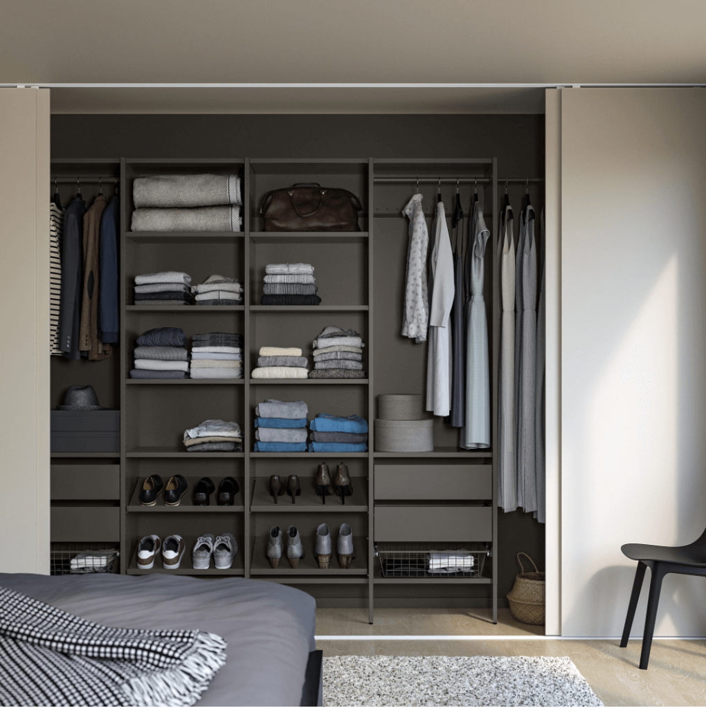 ikea aurdal wardrobe dark gray with dark gray walls