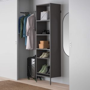 Ikea aurdal dark gray wardrobe shoe holder