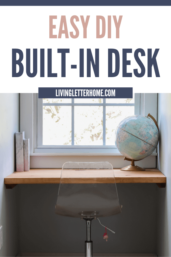 Super easy DIY built in desk. Great for kids doing remote learning!