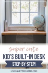 The cutest build in desk idea for a dormer for Cape Cod style homes. Easy weekend DIY project!