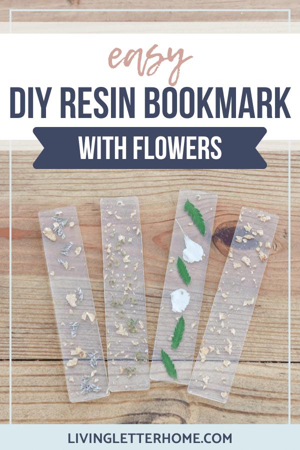 DIY resin bookmark pin