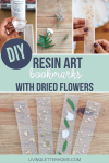 DIY resin bookmark pin