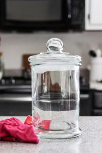 clear glass container with lid