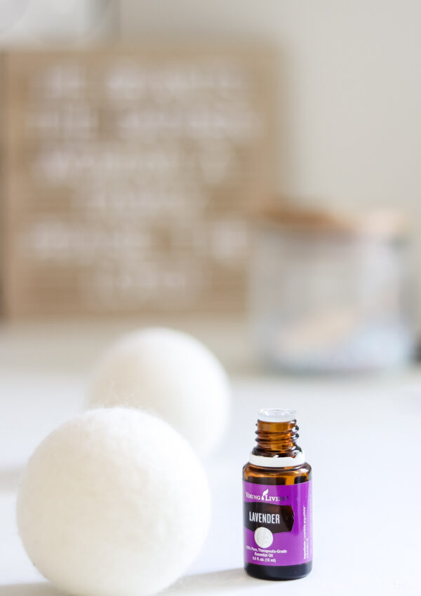 lavender essential oils on dryer balls