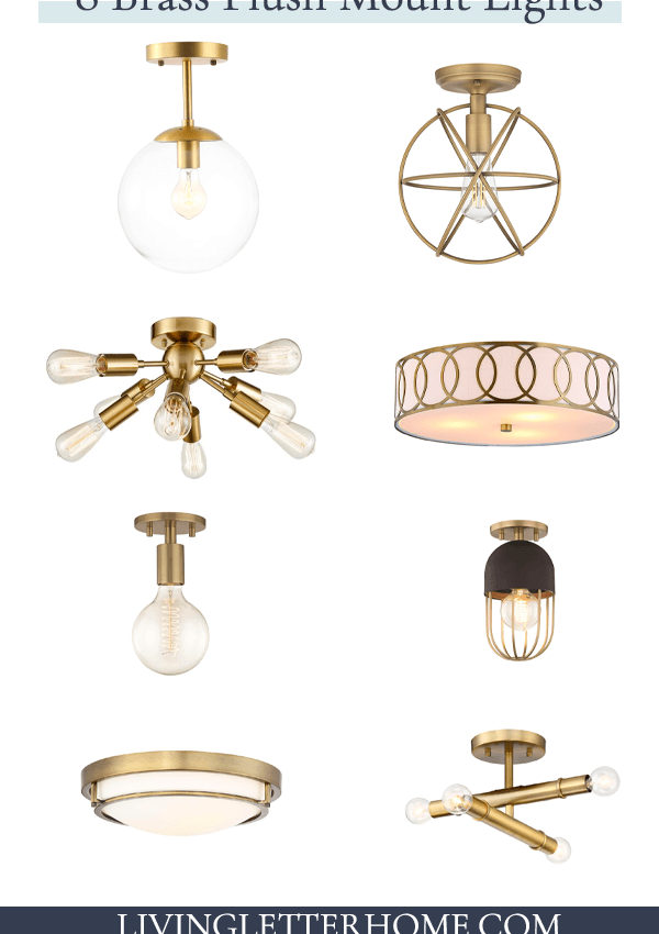 8 Modern Brass Flush Mount Lights Under $150