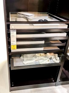 Ikea Komplement clear drawers