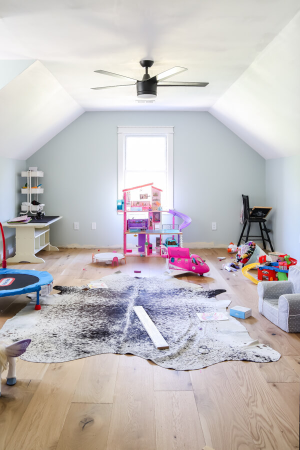 messy playroom with kids toys