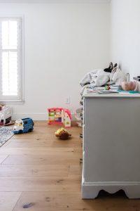 messy toddler girl's dresser