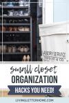 small closet organization hacks