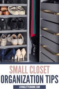 Small closet organization tips