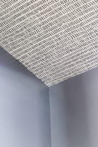 Behr color matched paint and wallpaper ceilings