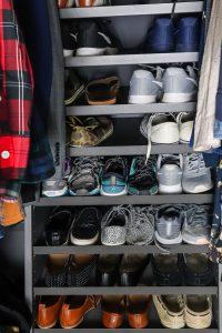 men and women's shoes on Ikea AURDAL in gray
