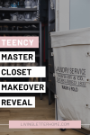 Teency master closet makeover reveal Pin