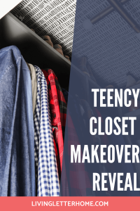 Teency Closet Makeover Reveal Pin