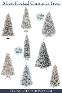 8 White Flocked Christmas