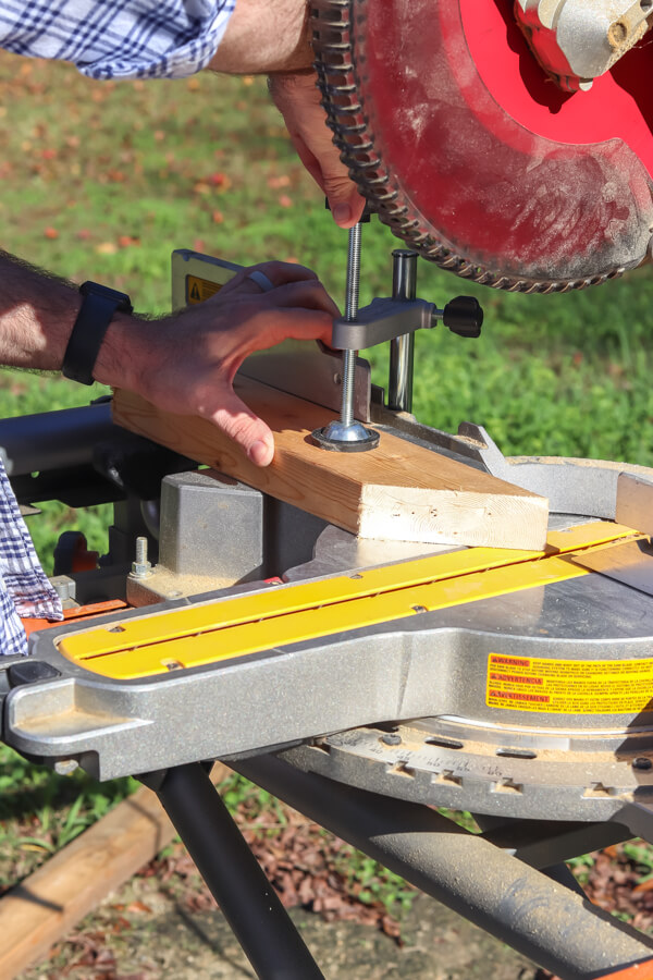 scrap wood cut at angle on table saw