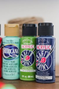 3 bottles of craft paint