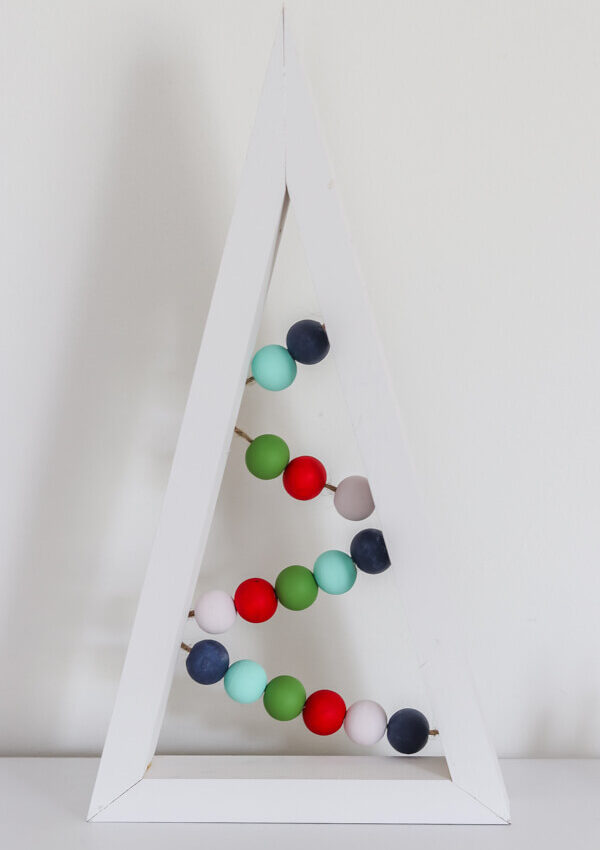 DIY Colorful Wooden Christmas Tree