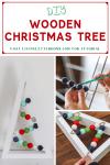 DIY wooden Christmas tree pin
