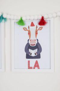 cow singing la