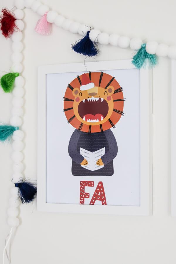 cartoon lion singing fa