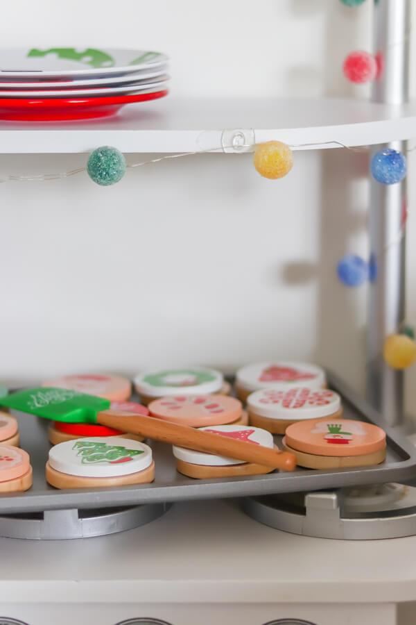melissa and doug wooden christmas cookie set