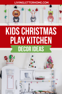 Kids Wooden Play Kitchen Christmas Decor