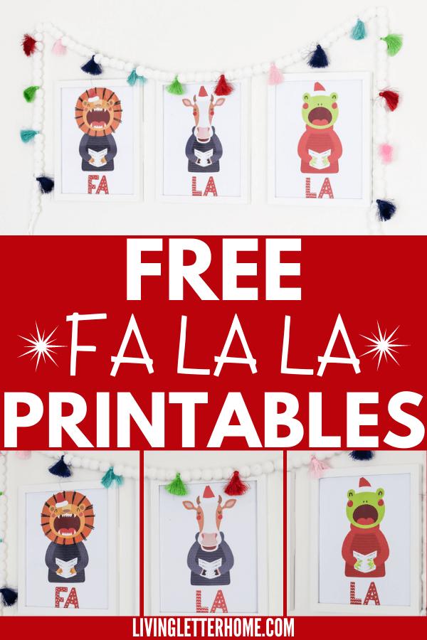 Free fun Fa La La Printables
