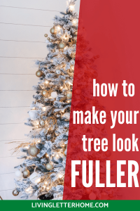 How to make your Christmas tree look fuller the easy way