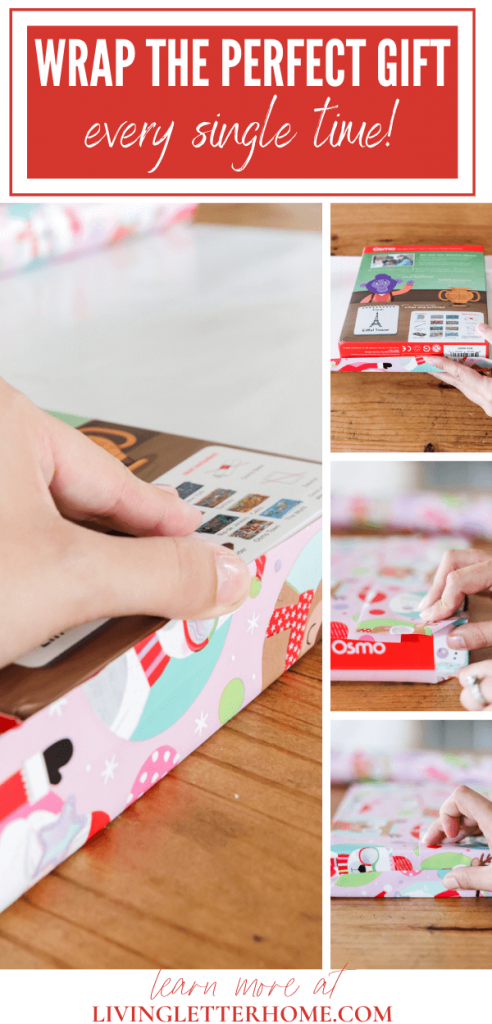 The EASIEST way to wrap a gift box - NO wasted paper or tape! | Learn how at LivingLetterHome.com