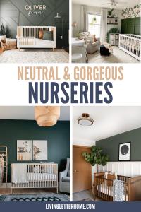 Neutral and gorgeous nursery inspiration ideas | LivingLetterHome.com