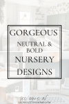 Gorgeous neutral and bold nursery inspiration ideas | LivingLetterHome.com