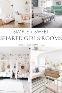 Simple and sweet shared girls room ideas and inspiration