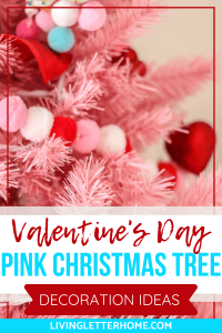 Valentine's Day pink Christmas tree decoration ideas
