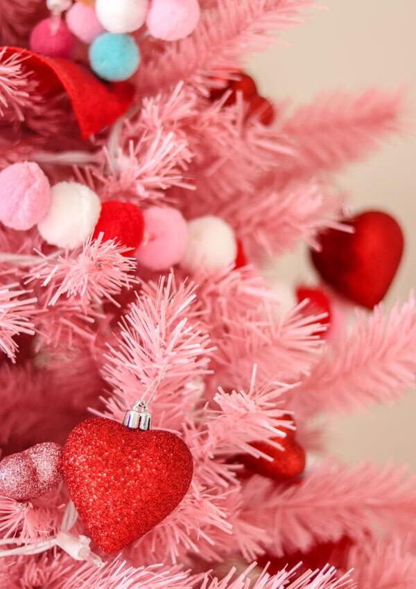 Pink Valentine's Day Christmas Tree