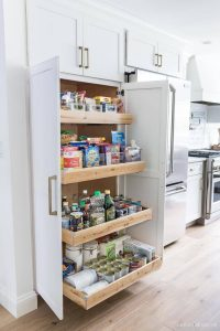 pull out pantry storage in kitchen