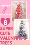 8 broches d'arbres de la Saint-Valentin super mignons