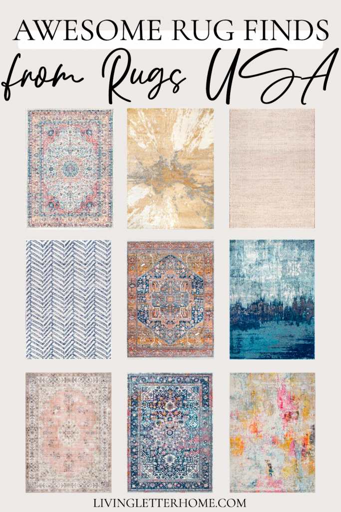 Awesome rug finds from Rugs USA graphic