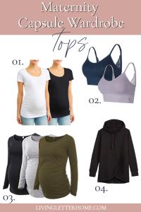 Maternity capsule wardrobe tops graphic